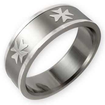 "Anillo de Acero Inoxidable ""Cruz de Malta"" – picture 1"