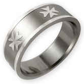 Stainless Steel Ring - Maltese Cross 001