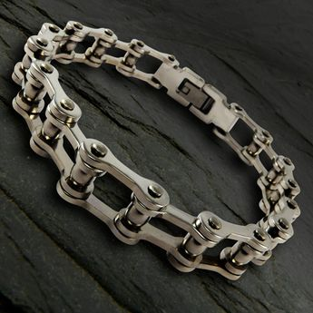 Bracelet from Stainless Steel - Bicycle Chain