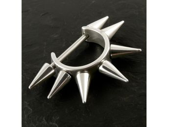 Spike Hoop Earrings from Stainless Steel – picture 2