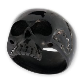 Classic Skull Horn Ring  – picture 1