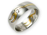 Stainless Steel Puzzle Ring - Gold Tribal 001