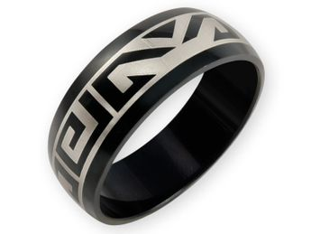 Stainless Steel Ring - Meander Maori Tribal