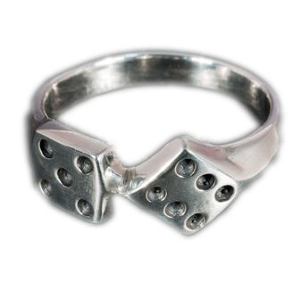 Lucky Dice Silver Ring – picture 1