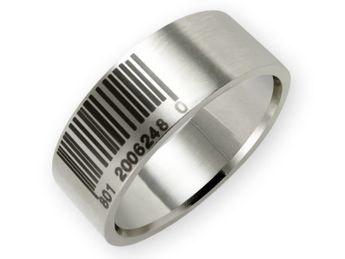 Stainless Steel Ring Barcode