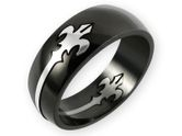 """Edelstahl Tempelritter Puzzle Ring """"Fleur de Lis"""" 001"""