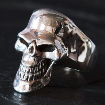 Silver Skull Ring - Scary Death`s Head – picture 2