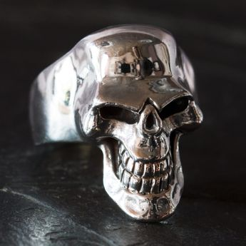Silver Skull Ring - Scary Death`s Head – picture 3