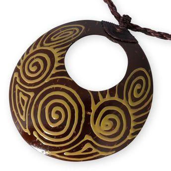 "Kette mit Coconut Anhänger ""Koru Tribal"""