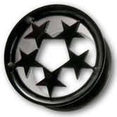 Stainless Steel Tunnel - Black Stars 001