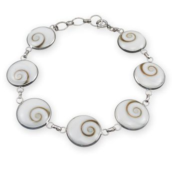 Silver Bracelet - Shiva's Eye - in different widths – picture 1