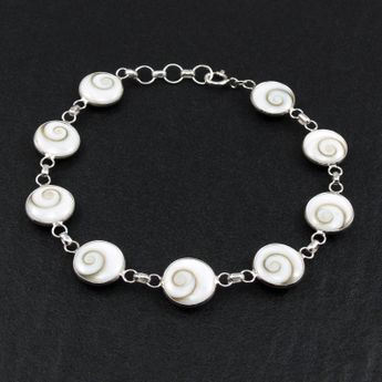 Silver Bracelet - Shiva's Eye - in different widths – picture 3