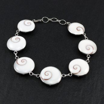 Silver Bracelet - Shiva's Eye - in different widths – picture 6
