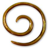 2mm Mother of Pearl Piercing Spiral - Mabe Shell 001