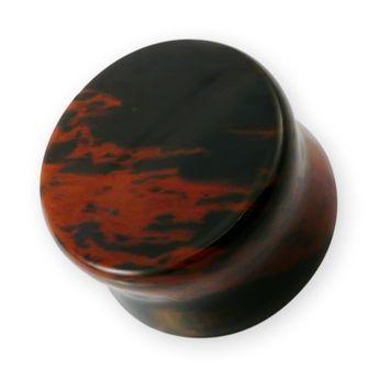 Mahagoni-Obsidian Stein Plug (5-25mm) – Bild 1