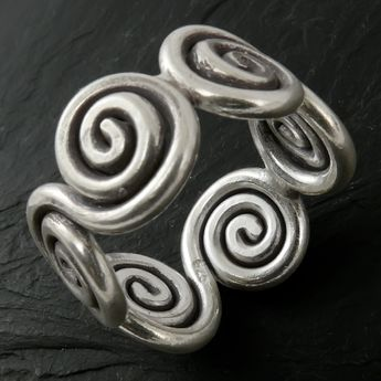 Silver Ring - Celtic Spirals – picture 2