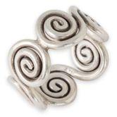 Karen Hill Tribe Ring Keltische Spiralen Silber 925  001