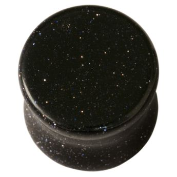 Ohr Plug Blaufluss Stein nachtblau 5-25 mm – Bild 1