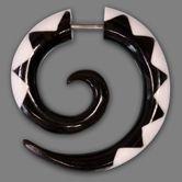 Falsa Dilatación Espiral Piercing - Sierra Blanca Tribal - Cierre de tornillo 001