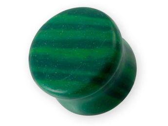 "Stone Ear Plug ""Green Malachite"""