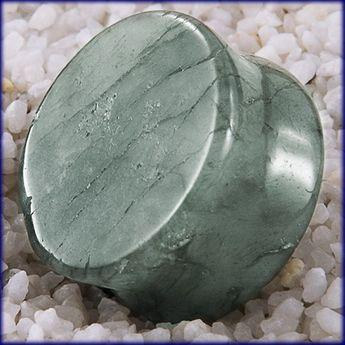 Labradorit Stein Flesch Plug (5-25mm) Grün pg145