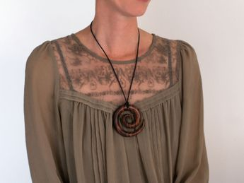 Sono wood Necklace maori tribal – picture 2