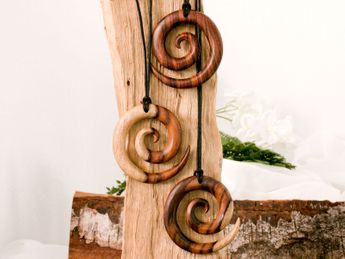 Sono wood Necklace maori tribal – picture 3