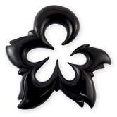 Expander Spirale aus Büffelhorn oder Ebenholz - Black Flower