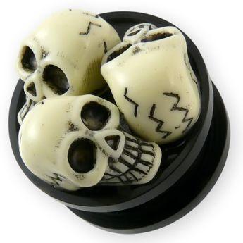 3D Acrylic Skull Ear Plug – picture 1