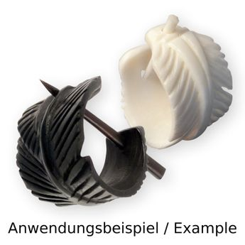 1 Pair of Replacement Pins or wood, horn, bone earrings – picture 7