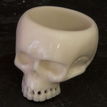 Skull bone ring in Keith Richards style – picture 3