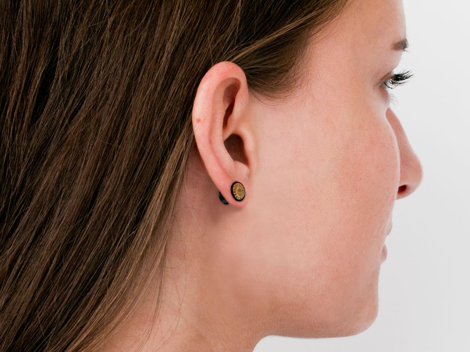 Choose Size! PAIR /_ Organic Horn Flesh Ear Tunnels **PLUGS**  NO Metal