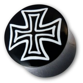 Black Horn Plug - Iron Cross