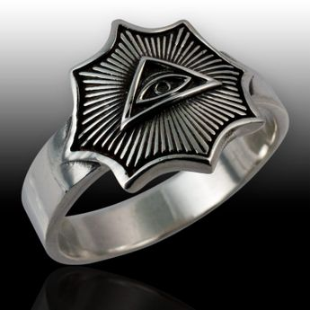 Masonic Sterling Siver Ring - All Seeing Eye – picture 2