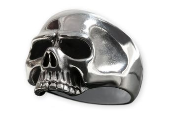 Classic Skull Sterling Silver Ring – picture 1