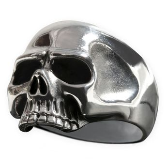 Classic Skull Sterling Silver Ring – picture 3