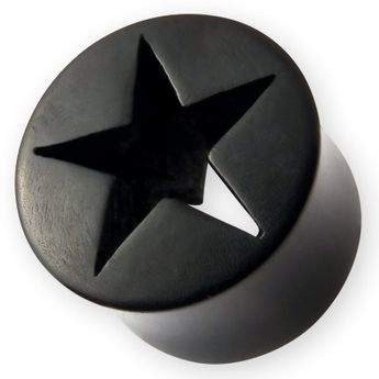 Cut Out Stern Horn Plug 6-22mm Schwarz