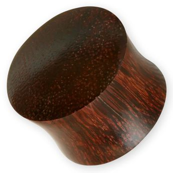 Wood Plug Brown Ironwood Flesh Tunnel (4-30mm) – picture 1