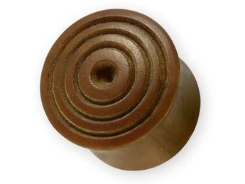 Wood Flesh Plug Hand-carved Circles