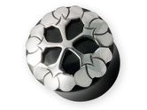 Black Horn 925 Sterling Silver Ear Plug Lotus Flower (8-16mm) pgs006 001