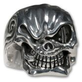 Sterling Silver Skull Ring - Mafia Godfather