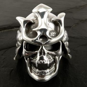 Silver Skull Ring - Samurai Warrior – picture 2