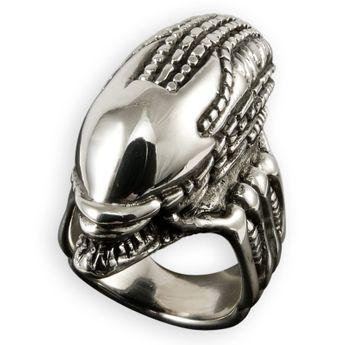 Alien Skull Ring echt Silber