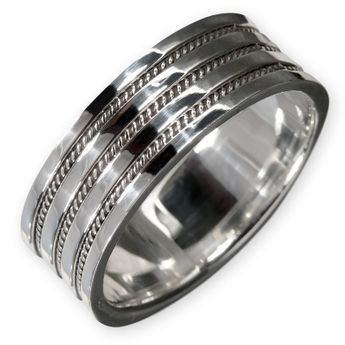 925 silver ring with celtic knot pattern for women and men – picture 1