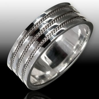 925 silver ring with celtic knot pattern for women and men – picture 2