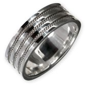 925 silver ring with celtic knot pattern for women and men 001