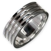925 Silber Ring mit keltischem Knotenmuster für Damen und Herren 001