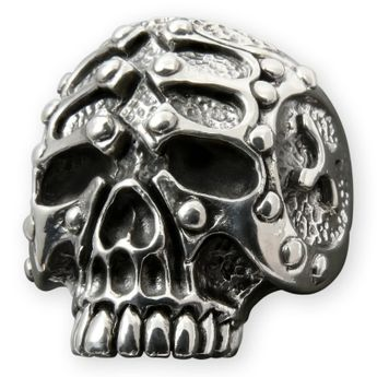 Silver Skull Ring - The Gladiator