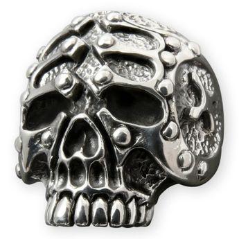Totenkopf Skull Silber Ring - Gladiator