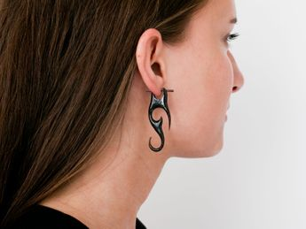 Horn Earrings - Maori Tribal – picture 2